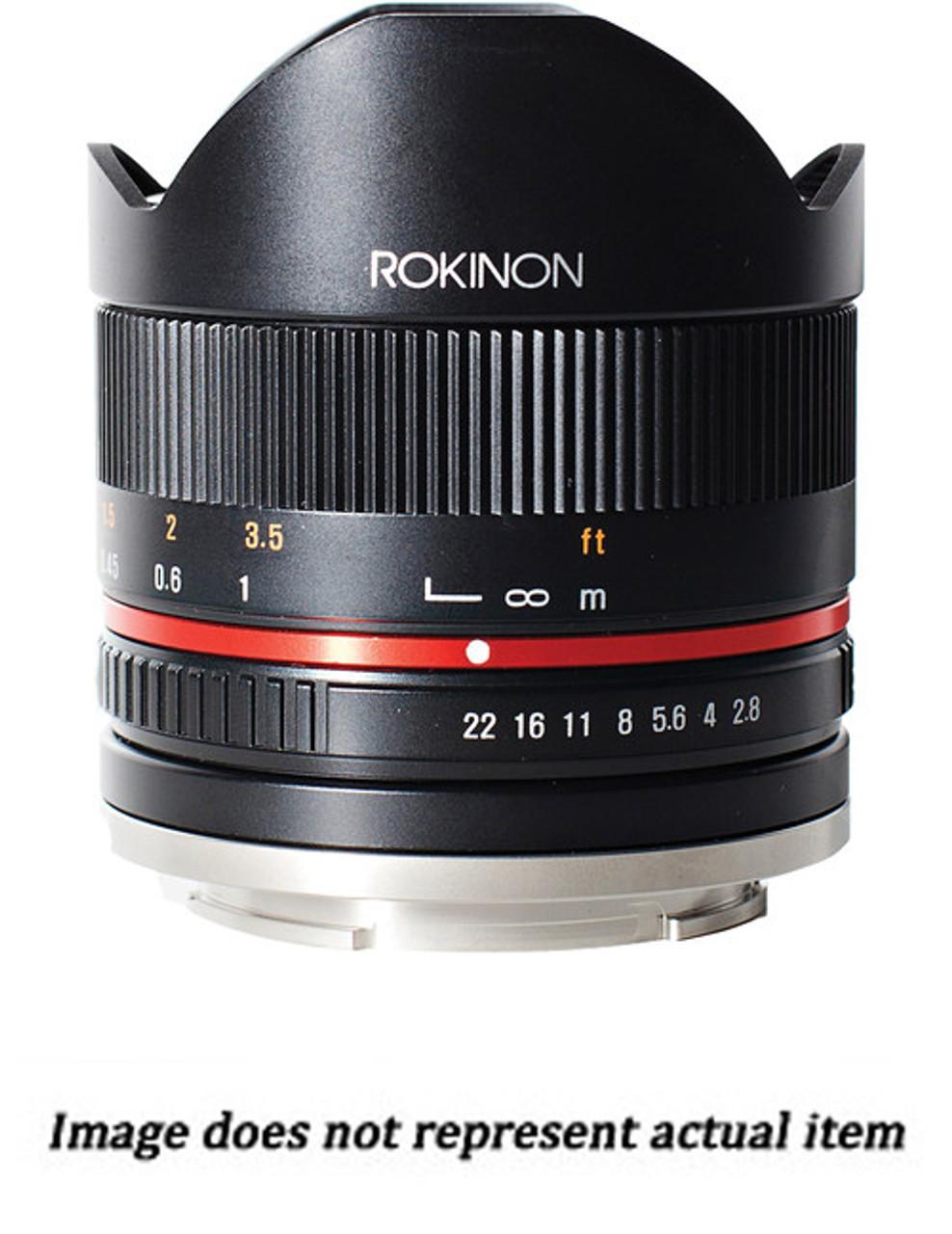 Rokinon 8mm f/2.8 UMC Fisheye II Lens for Fujifilm X Mount (USED) - S/N CHP20471