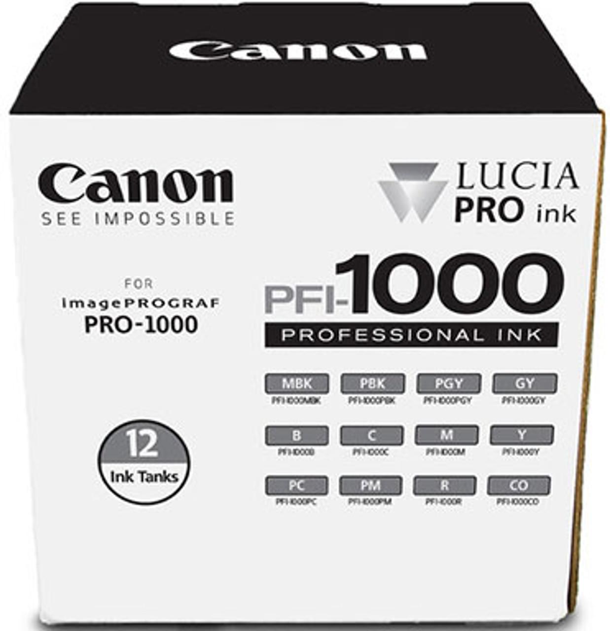 Canon PFI-1000 Lucia Pro 12 Ink Set