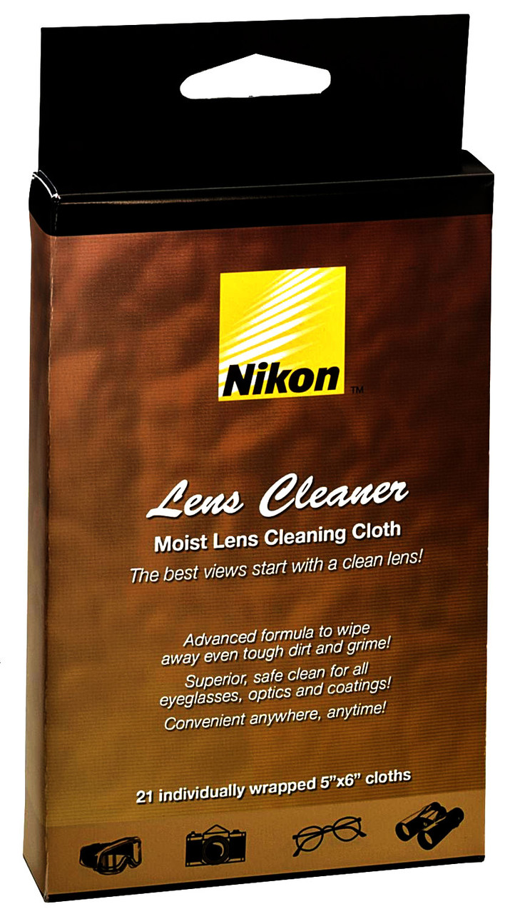 Nikon Moist Cloth Lens Cleaners (21 sheets)