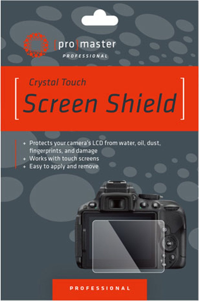 ProMaster Crystal Touch Screen Shield  for Olympus EM10MKII/III, EM1, EPL9, EPL8, EPL7, Fuji X-T3