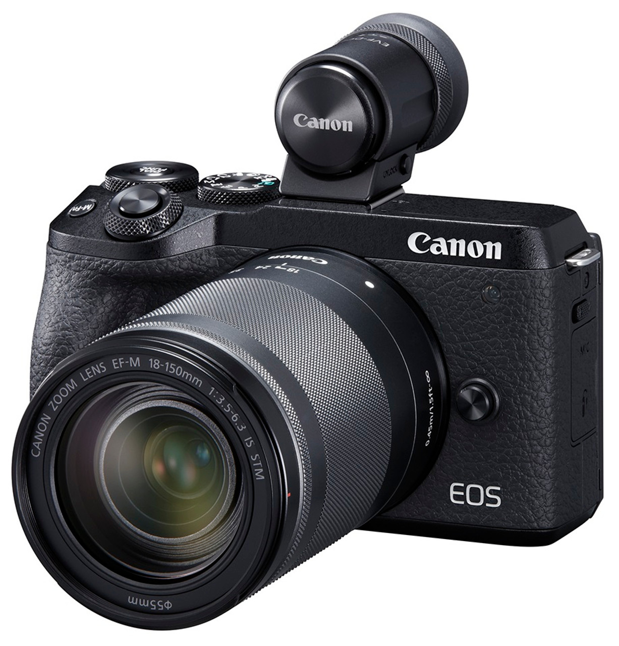 Canon EOS M6 Mark II Interchangeable Lens Camera with EF-M 18-150mm IS STM Lens and EVF-DC2