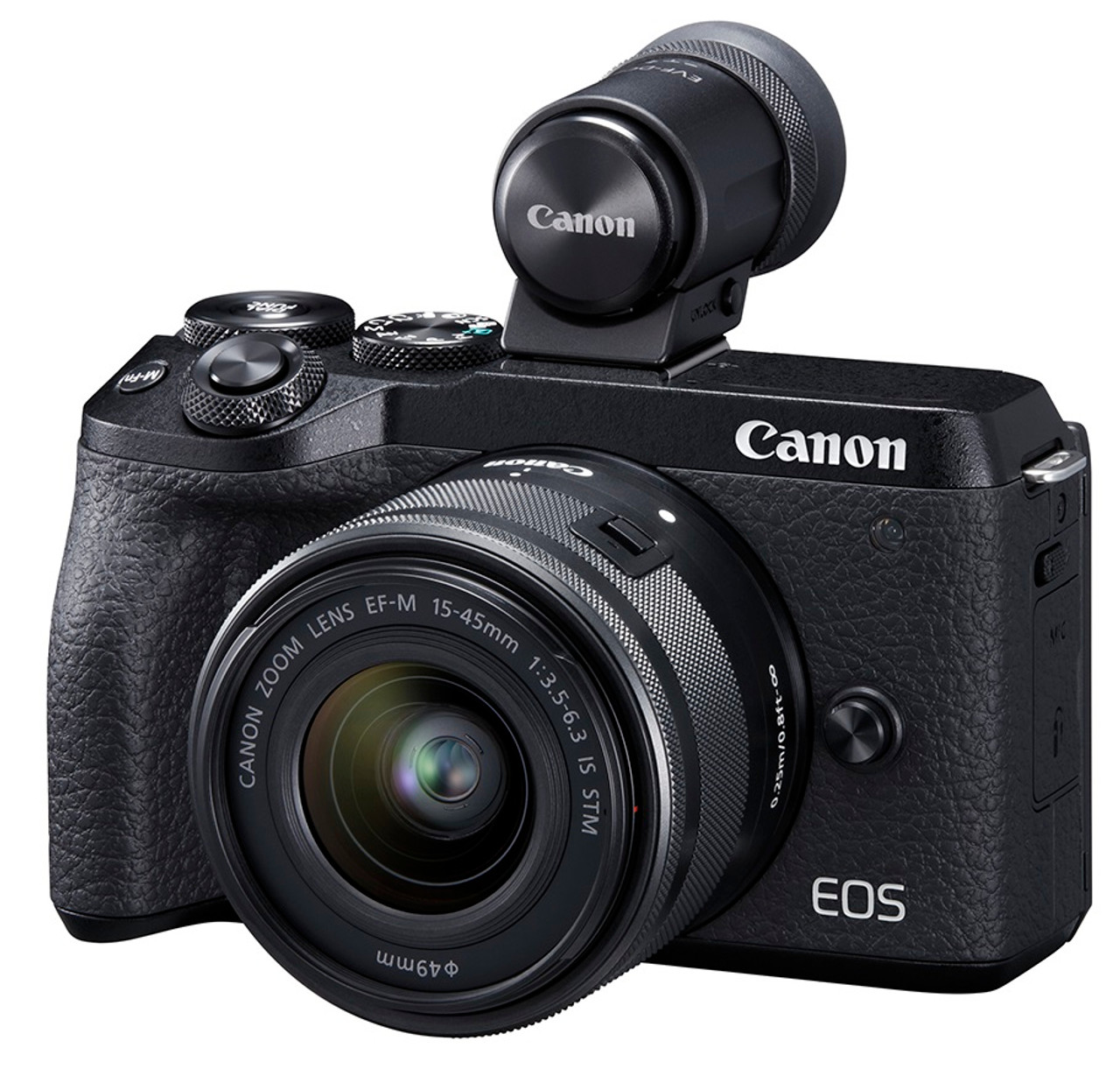 Canon EOS M6 Mark II Interchangeable Lens Camera with EF-M 15-45mm IS STM and EVF-DC2