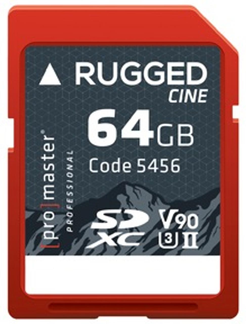 ProMaster 64GB SDXC Rugged CINE UHS-II