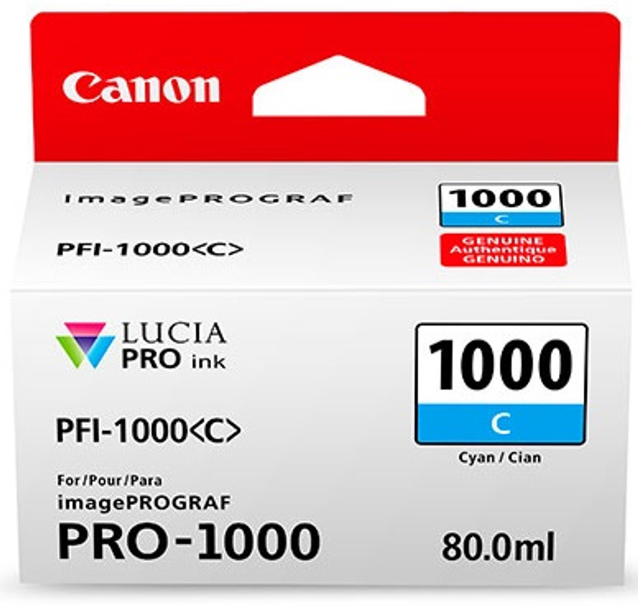 Canon PFI-1000 Cyan Ink Tank