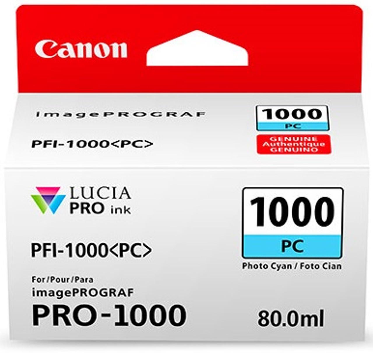 Canon PFI-1000 Photo Cyan Ink Tank