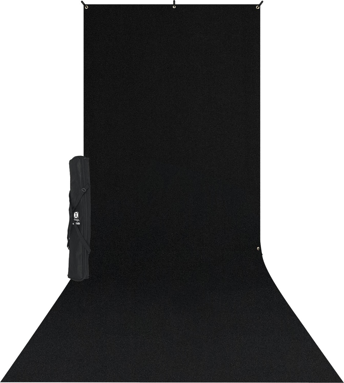 Westcott X-Drop Wrinkle-Resistant Backdrop Sweep Kit - 5' x 12' Black