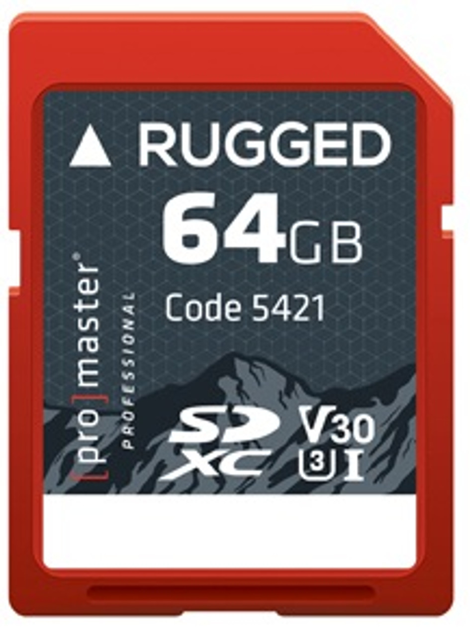 ProMaster 64GB SDXC Rugged UHS-I Memory Card