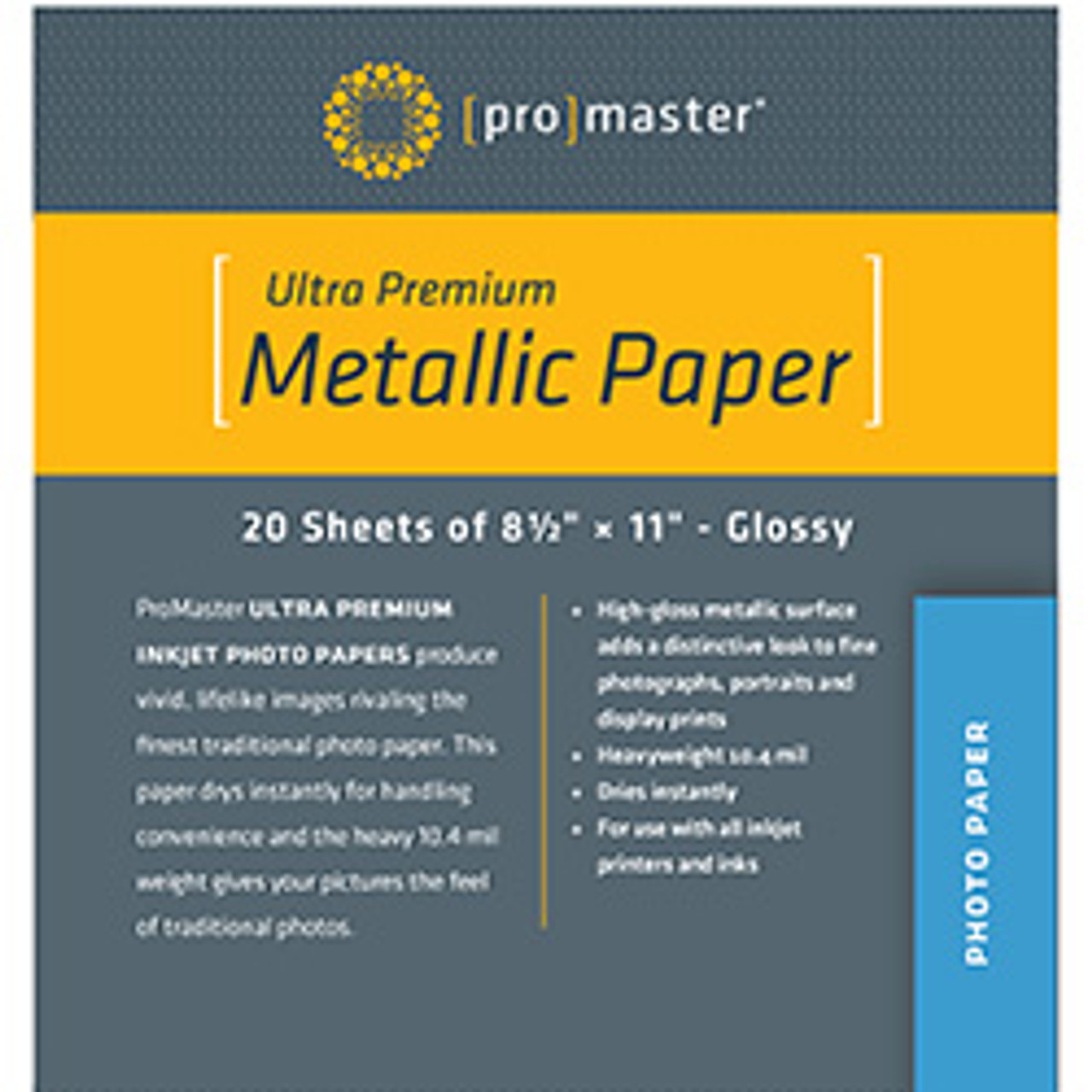 ProMaster Ultra Premium Metallic Paper - 8.5 x 11'' (20 sheets)
