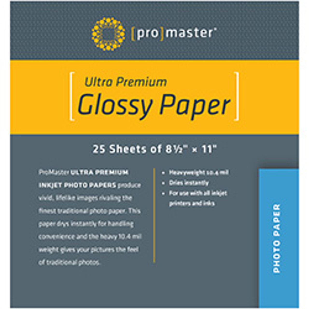 """ProMaster Ultra Premium Glossy Paper 8.5"""" x 11"""" (25 Sheets)"""