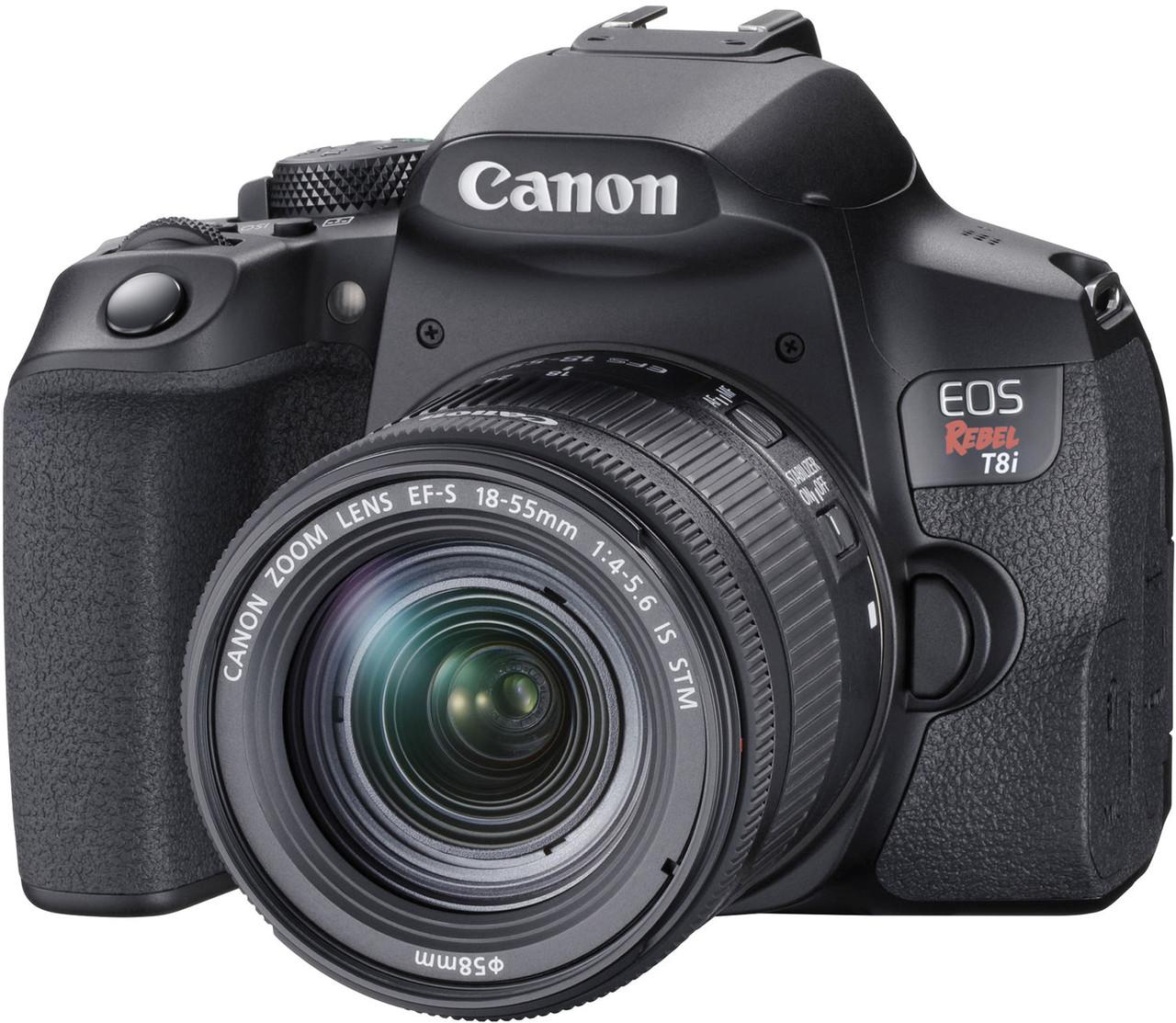Canon EOS Rebel T8i Digital SLR Camera with EF-S 18-55mm f4-5.6 IS STM Lens