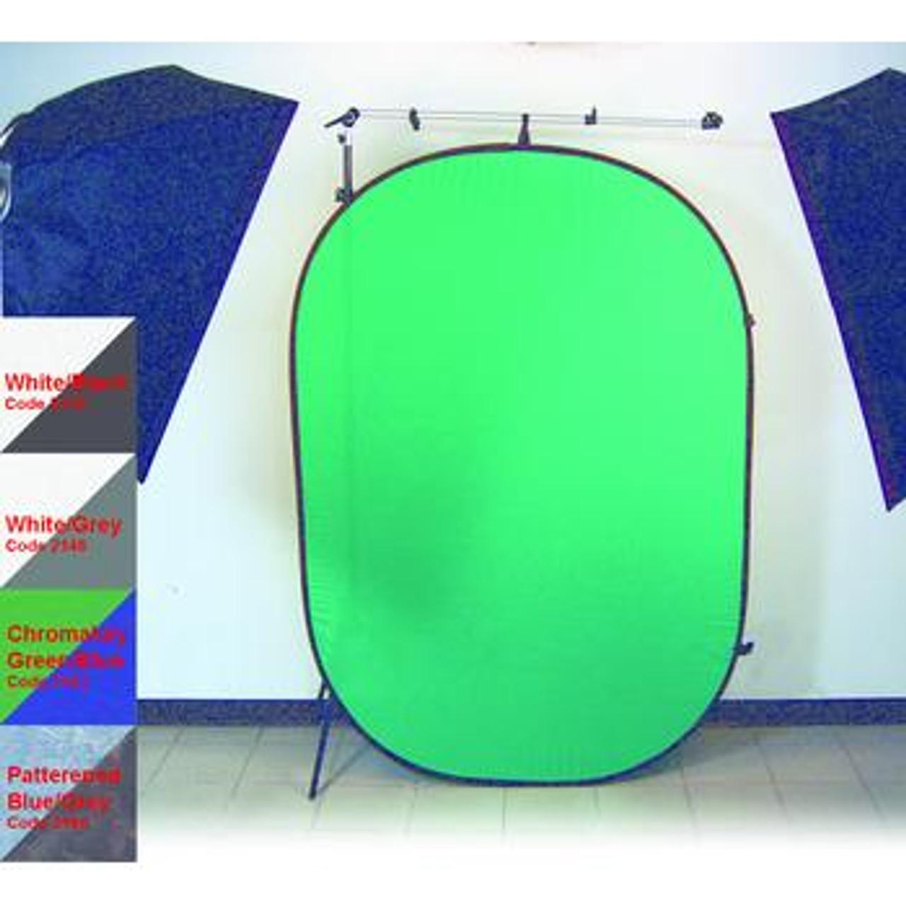 ProMaster Pop Up Background - 6'x7' Dual Sided - Chromakey Green/Chromakey Blue #2153