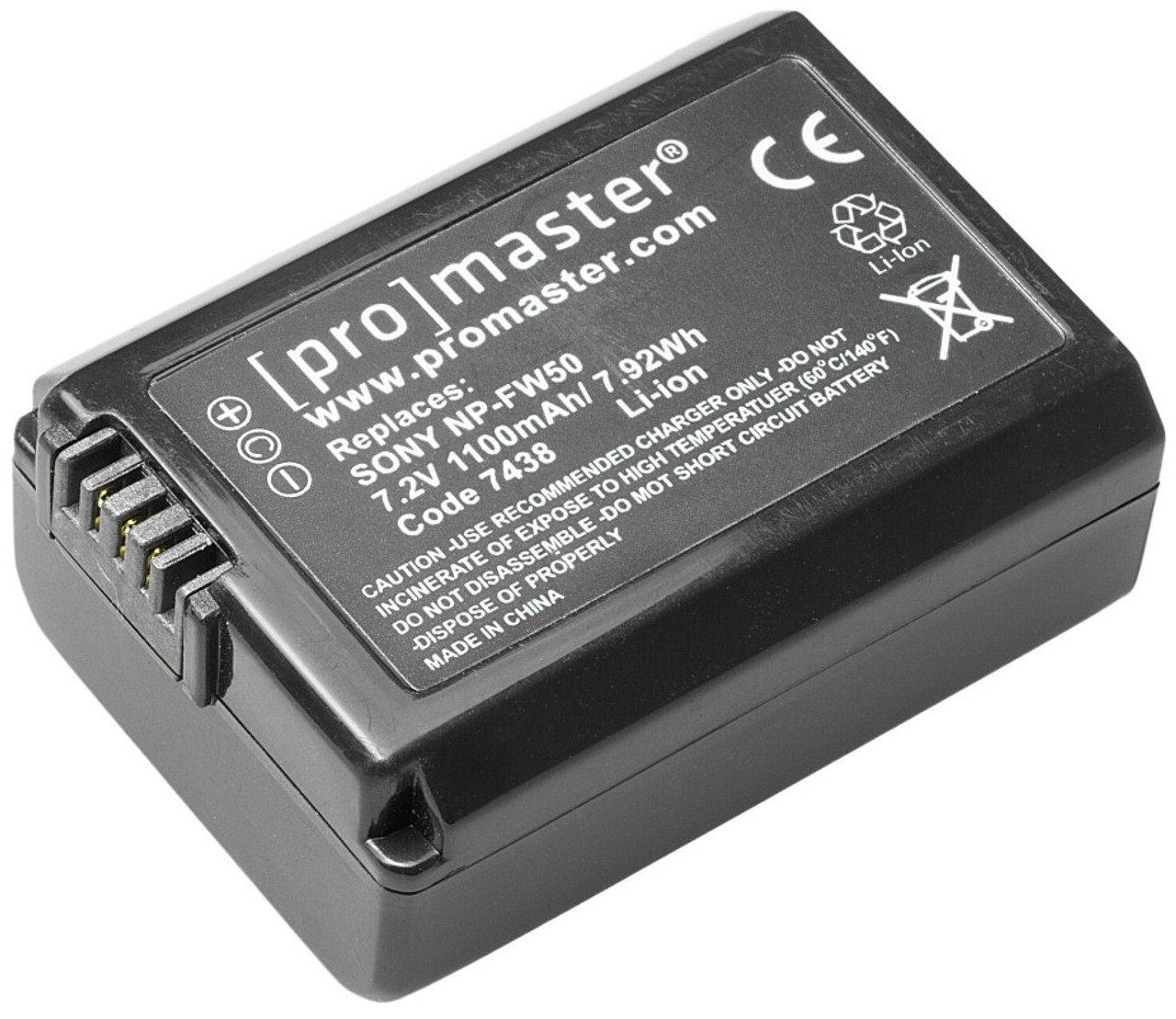 ProMaster NP-FW50 Lithium Ion Replacement Battery for Sony