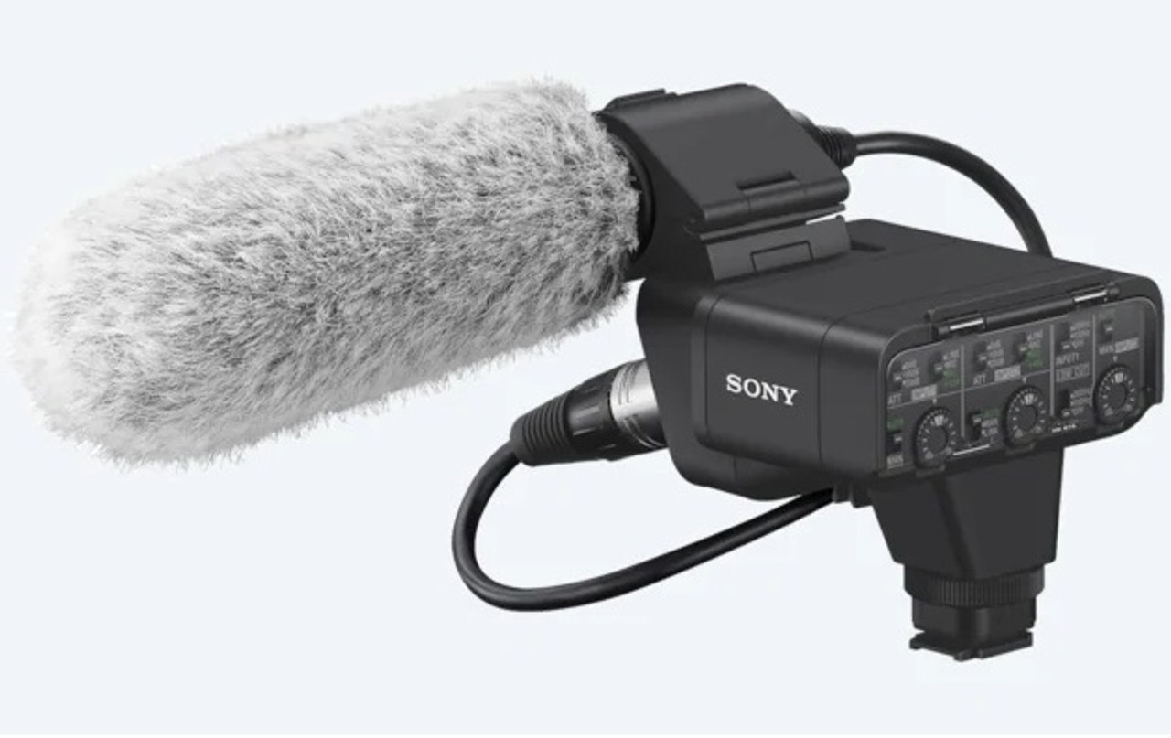 Sony Dual-Channel Digital XLR Audio Adapter Kit with Shotgun Microphone