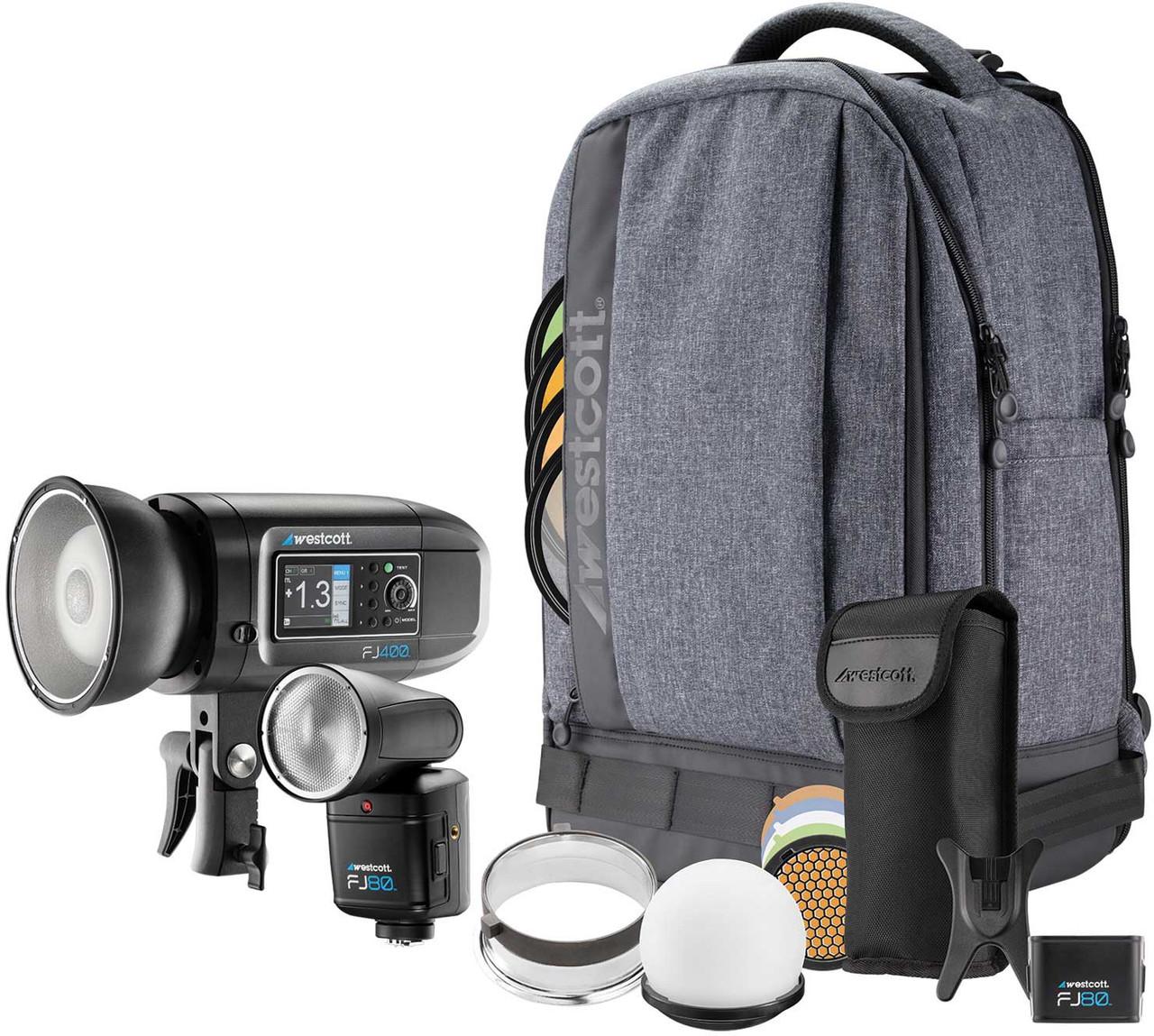 Westcott FJ80 and FJ400 Strobe 2-Light Portable Portrait Kit