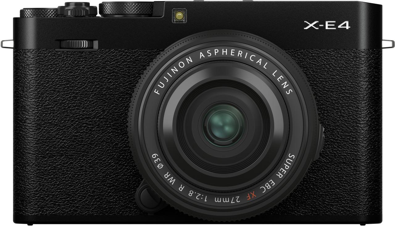 Fujifilm X-E4 Mirrorless System Camera with XF 27mm F2.8 R WR Lens (Black)