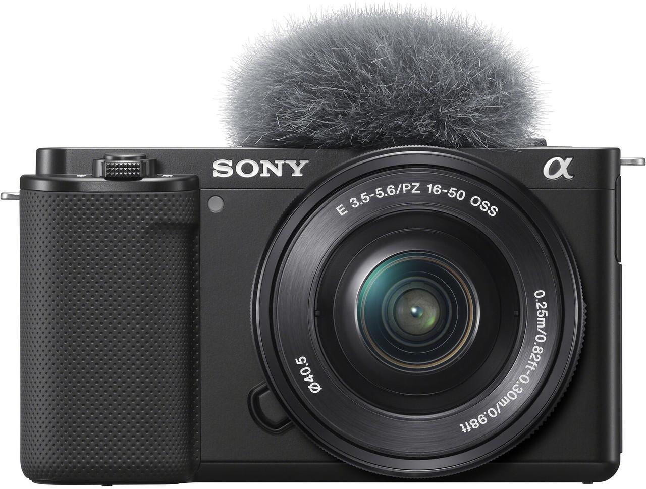 Sony ZV-E10 Interchangeable Lens Vlog Camera with E PZ 16-50mm f/3.5-5.6 OSS Lens (Black)