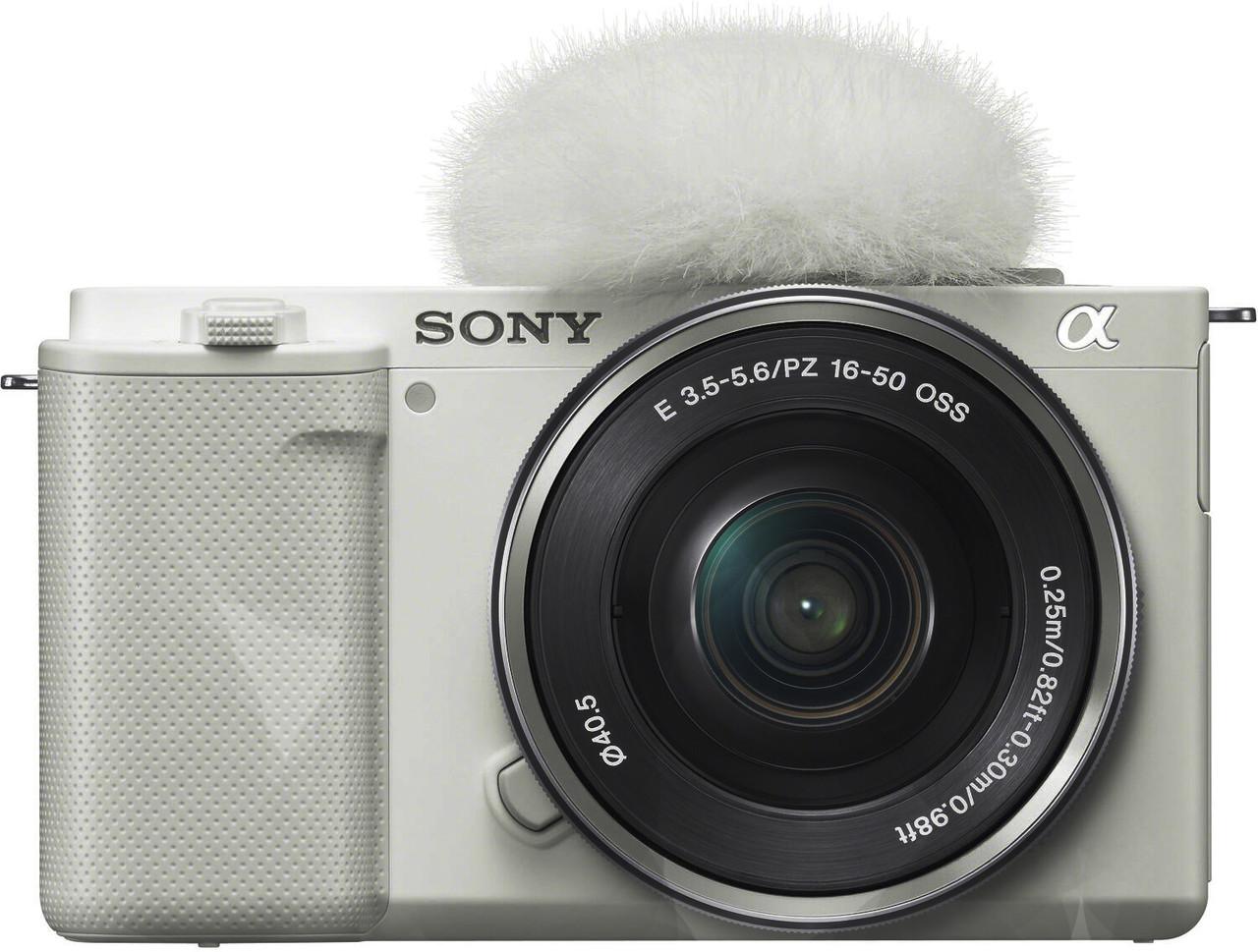 Sony ZV-E10 Interchangeable Lens Vlog Camera with E PZ 16-50mm f/3.5-5.6 OSS Lens (White)