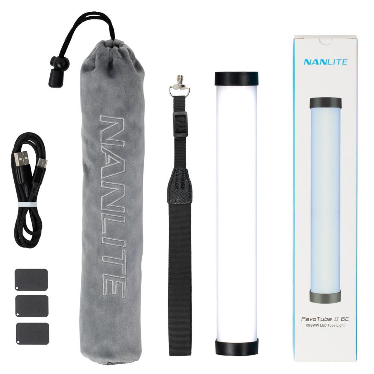 Nanlite PavoTube II 6C 10in 6w RGBWW LED Tube with Internal Battery