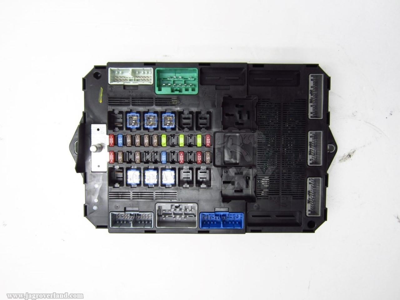 12 Xf Xfr Trunk Fuse Box Smart Junction Oem C2Z23345 Cx23-14B476-Ag Oem Fuse Box on