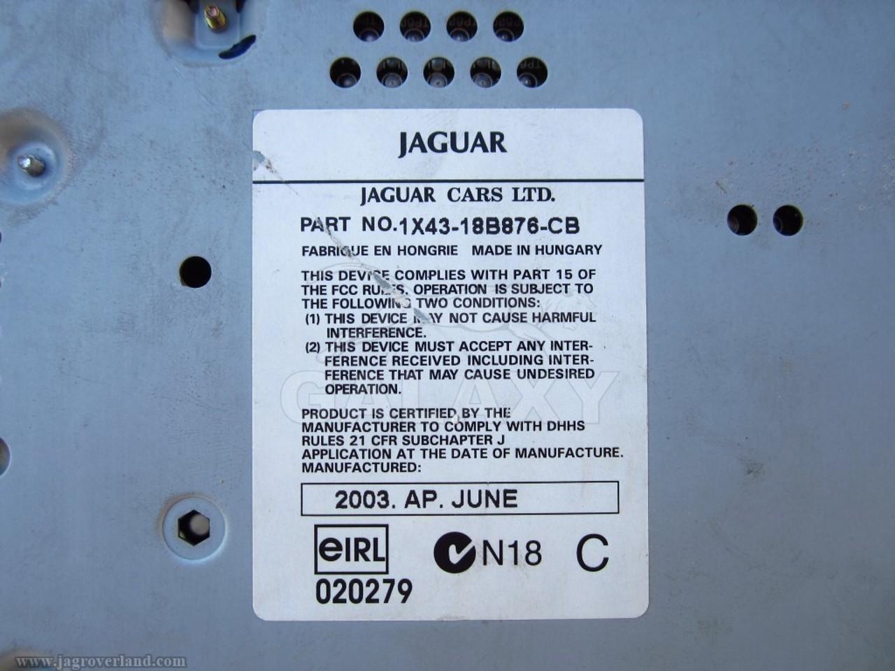 03-04 X-Type Stereo Tape Cassette Radio Cd Player Controller Oem Unit  Module 1X43-18B876-Cb