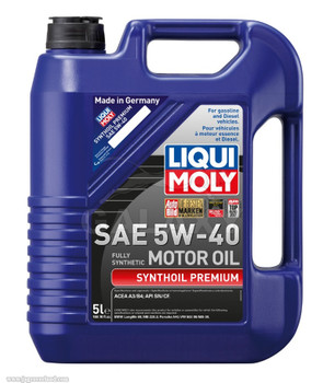 Liqui Moly Synthoil Premium Sae 5W-40 Fully Synthetic Engine Motor Oil 5 Liter 169.10 Fl.Oz