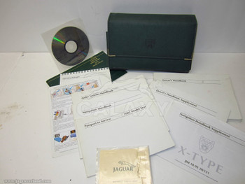 02 X-Type Owners Manual Hand Bo Case Cd Oem
