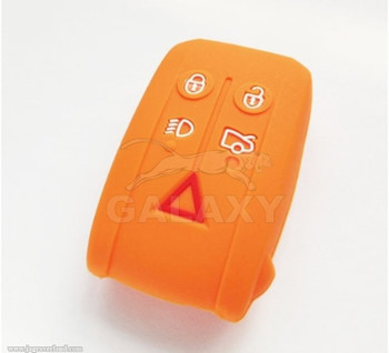 07-15 XF XK R S Silicone Remote Protector Key Fob Cover Shell Only Orange Color