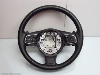 16-18 XF Xe F-Pace Steering Wheel Softgrain Heated Gx73-3F563-Rd Pvj T4A2553Pvj