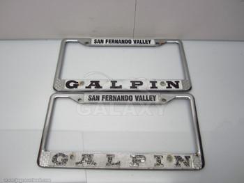 San Fernando Valley Galpin Dealer Licence Plate Steel Frame
