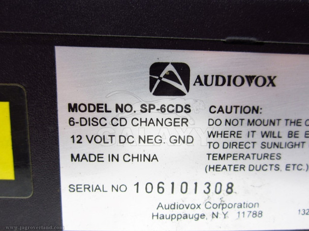 Audiovox Cd Changer Sp-6Cds
