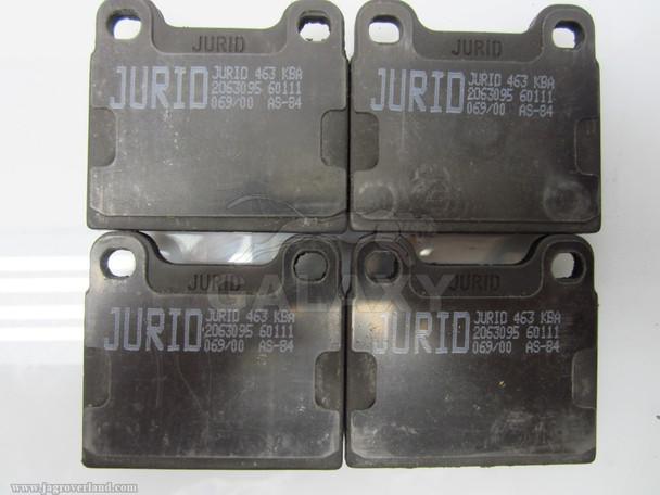 1986-1987 Taxi (463) Jurid 571554J-As Brake Pad Set, Ate Disc Brake 571554J-As 11600220520330