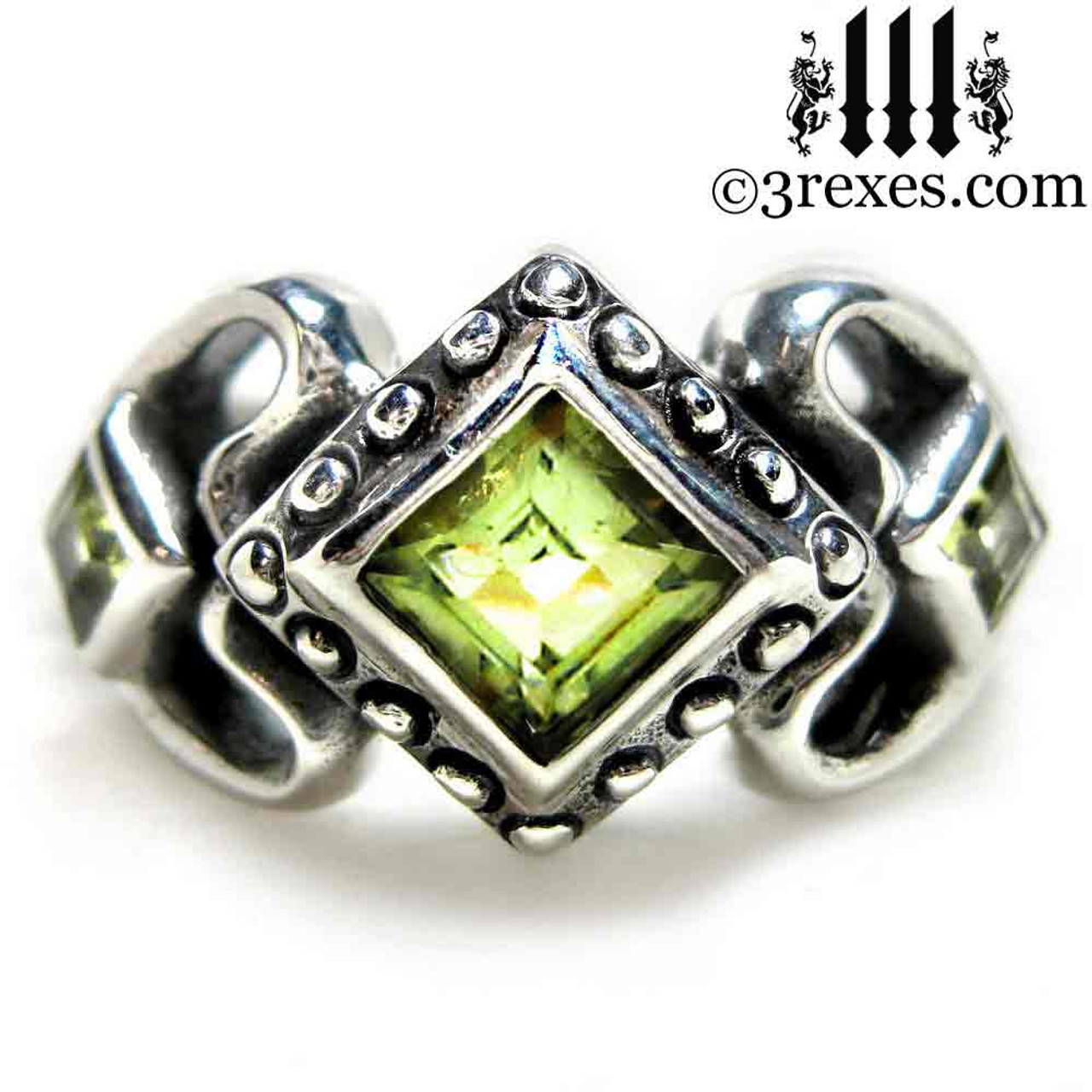 Gothic Wedding Rings.Princess Love Gothic Engagement Ring