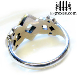 medieval wedding ring back view .925 sterling silver