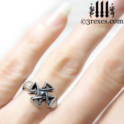 celtic cross friendship ring on ring finger