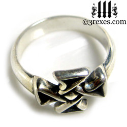 celtic cross friendship ring .925 sterling silver top view