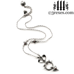 serendipity fairy tale gothic heart necklace full view