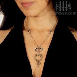 fairy tale gothic heart necklace