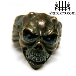 bronze gargoyle devil ring
