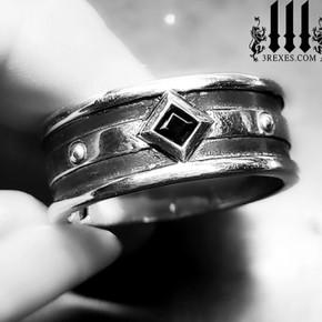 gothic ring for men, alt wedding band
