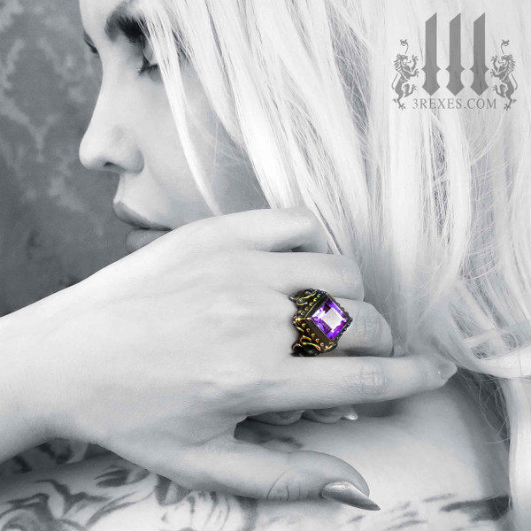 Raven Love Bronze Wedding Ring