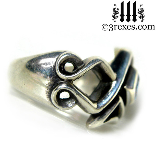 ancient knot, celtic ring .925 sterling silver gothic mens medieval wedding band