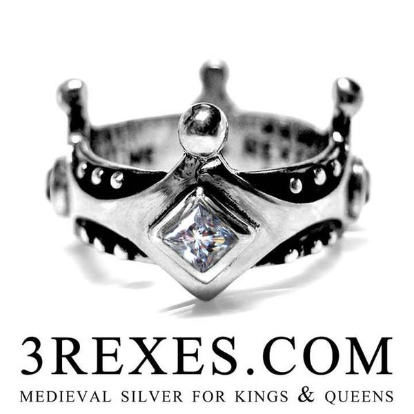 Brandy Wine Medieval Crown Ring