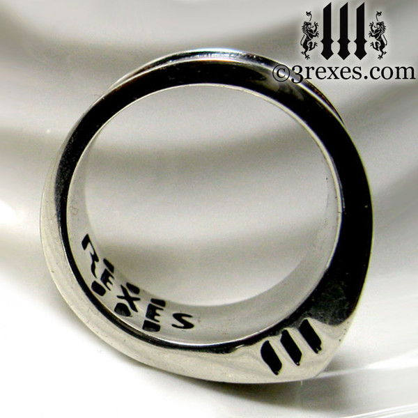 .925 sterling silver iron cross ring