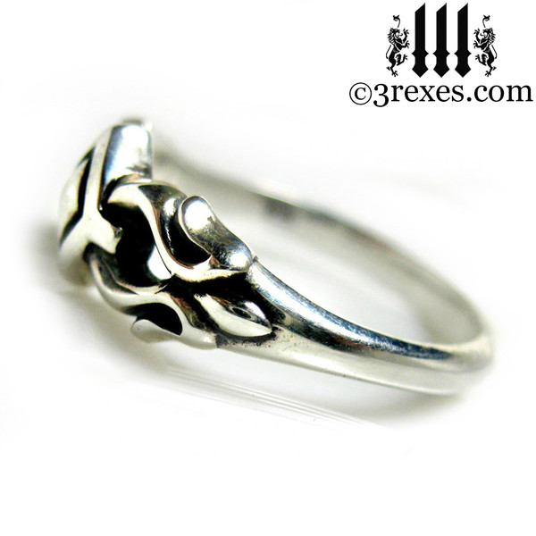 .925 sterling silver friendship ring side detail