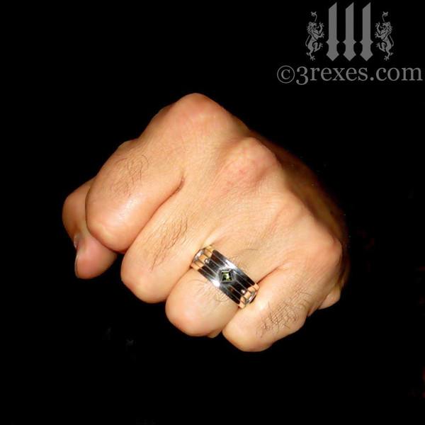 moorish gothic silver wedding ring, worn by pirates n wenches