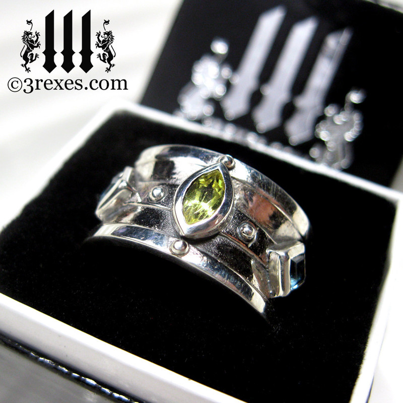 mens wedding ring medieval king band gothic jewelry .925 sterling silver