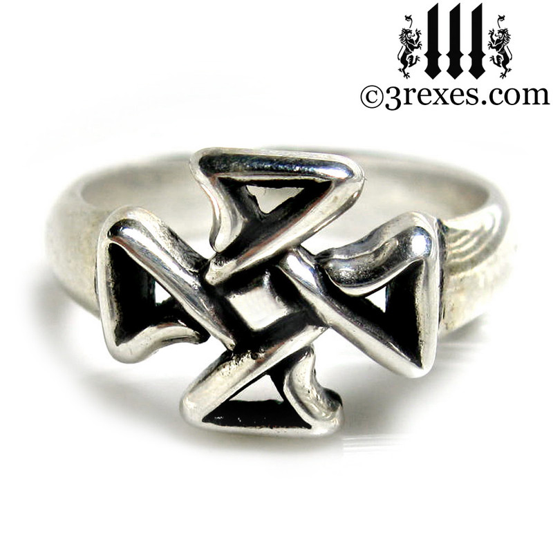 celtic cross friendship ring .925 sterling silver