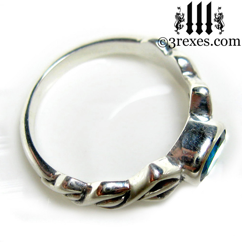 silver friendship ring top view