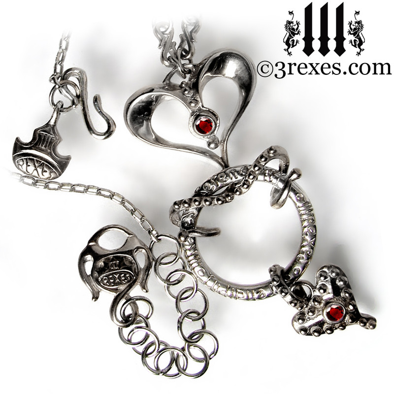 serendipity fairy tale gothic heart necklace fully articulated