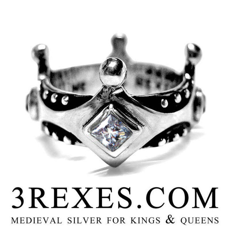 Brandy Wine Medieval Crown Ring